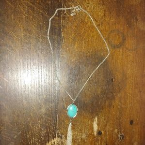 Women's Lucky Brand Silver and Turquoise Necklace